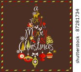 """""""a very merry christmas"""" tree... 