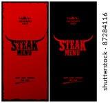 steak menu card design template. | Shutterstock .eps vector #87284116