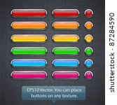 blank high detailed buttons on... | Shutterstock .eps vector #87284590