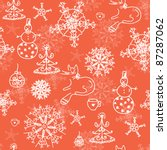 christmas red seamless pattern... | Shutterstock .eps vector #87287062