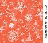 christmas red seamless pattern... | Shutterstock .eps vector #87287062
