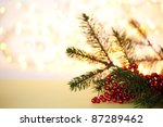 branch of new year tree  on... | Shutterstock . vector #87289462