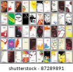 collection vertical cards on...
