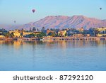 Balloons Above Luxor  Egypt At...
