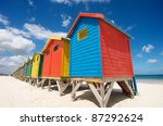 Bright Beach Huts