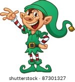 cartoon christmas elf. vector... | Shutterstock .eps vector #87301327