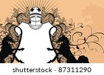 heraldic shield coat of arms... | Shutterstock .eps vector #87311290