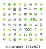 hand drawn green ecology  bio... | Shutterstock .eps vector #87314875
