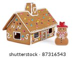 Gingerbread House With...