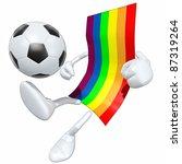 flag football soccer   Shutterstock . vector #87319264