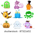 a vector illustration of cute... | Shutterstock .eps vector #87321652