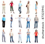 group of casual people.... | Shutterstock . vector #87323941