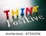 think positive  do not negative ... | Shutterstock . vector #87326206