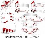 silver ribbon set | Shutterstock .eps vector #87327434