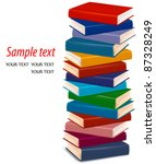 stack of  colorful books. vector | Shutterstock .eps vector #87328249