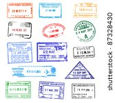 passport stamps | Shutterstock .eps vector #87328430