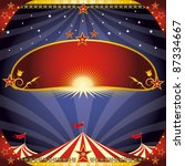 greeting circus leaflet. a... | Shutterstock . vector #87334667