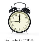 alarm clock  isolated on white | Shutterstock . vector #8733814