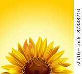 Realistic Sunflower On A Sunny...