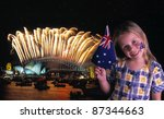 Young Girl Waves Australian...