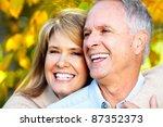 happy senior couple in love at... | Shutterstock . vector #87352373