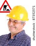 good looking mature man... | Shutterstock . vector #87352571