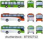 city and tourist buses  in... | Shutterstock .eps vector #87352712