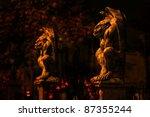 Two Guardian Gargoyles At...
