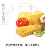 pasta and food ingredients | Shutterstock . vector #87355841