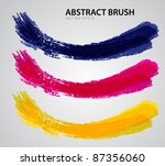 abstract brush vector esp10 | Shutterstock .eps vector #87356060