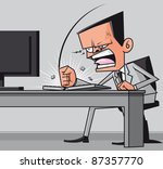 furious frustrated businessman ... | Shutterstock . vector #87357770