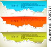 torn paper banners with space... | Shutterstock .eps vector #87357914