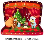 illustration of isolated... | Shutterstock . vector #87358961