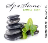 Spa a stone isolated on white background - stock photo
