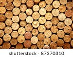 Small photo of Background pattern of wine bottles corks
