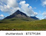mountain scenery in scotland... | Shutterstock . vector #87379184