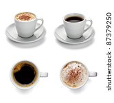 collection of various coffee... | Shutterstock . vector #87379250