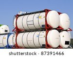 tank container for  chemical... | Shutterstock . vector #87391466