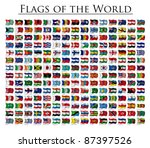 210 flags of the world  ... | Shutterstock . vector #87397526