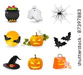 halloween icons | Shutterstock .eps vector #87397883