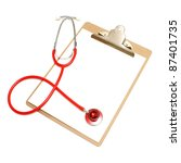 a medical clipboard with a... | Shutterstock . vector #87401735
