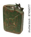 Old Rusty Gasoline Jerry Can...