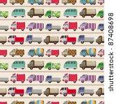 seamless truck pattern | Shutterstock .eps vector #87408698
