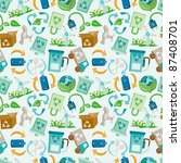 seamless eco icon pattern | Shutterstock .eps vector #87408701