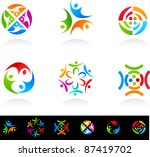 collection of social media and... | Shutterstock .eps vector #87419702