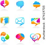 collection of social media and... | Shutterstock .eps vector #87419705