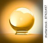 fine 3d image of crystal ball   Shutterstock . vector #87421457