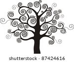 abstract  black  tree isolated... | Shutterstock . vector #87424616