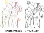 poppies designs | Shutterstock .eps vector #87425639