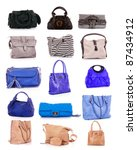 collage of colorful bags.... | Shutterstock . vector #87434912